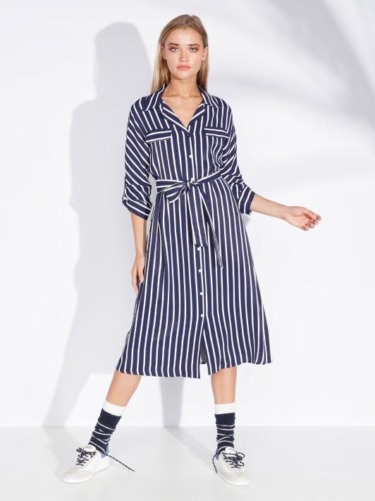3/4 sleeve shirted dress