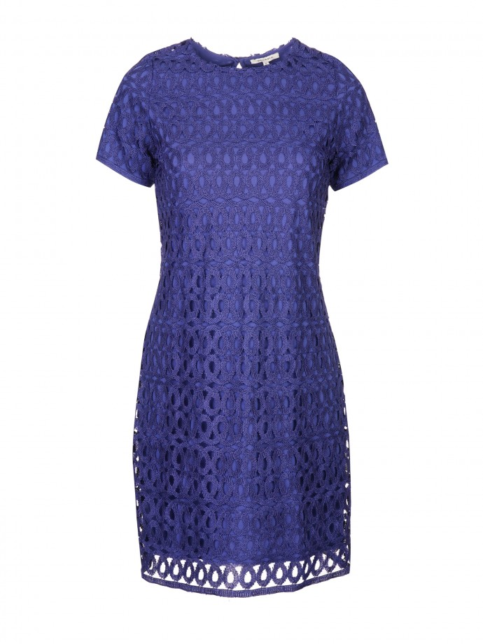 Laced short sleeve dress
