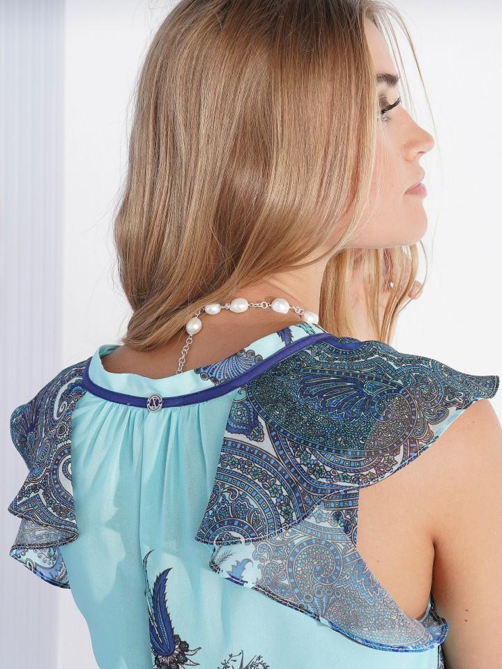 Dress with cornucopia print