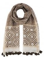 Scarf with ethnic motif