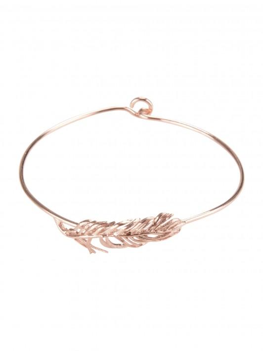 Bracelet with leaf