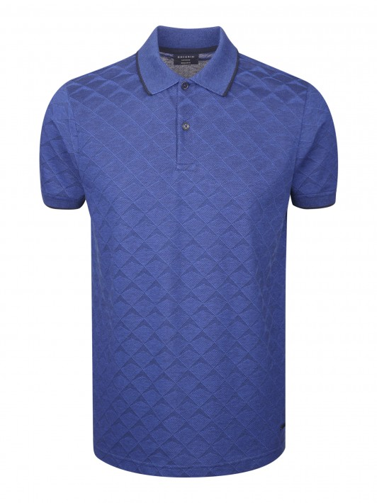 Geometric pattern polo shirt