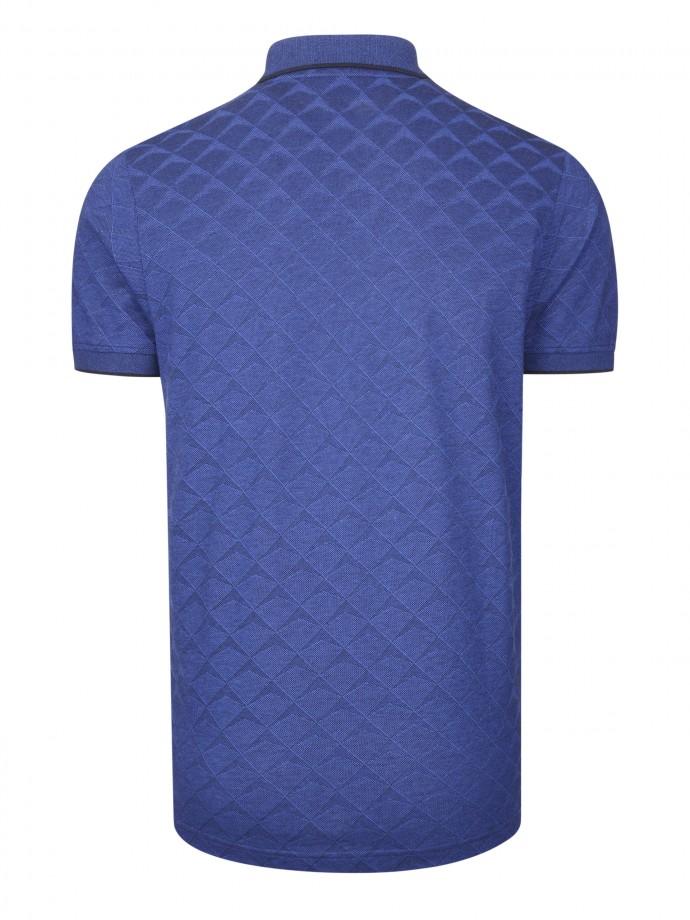 Polo manga curta padrão geométrico