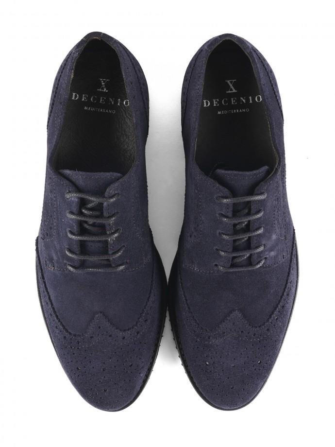 Sapato blucher em suede