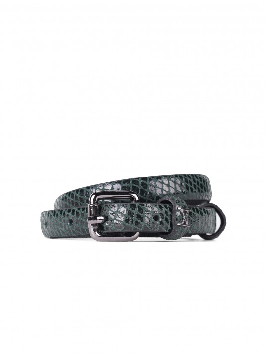 Pitón patterned belt