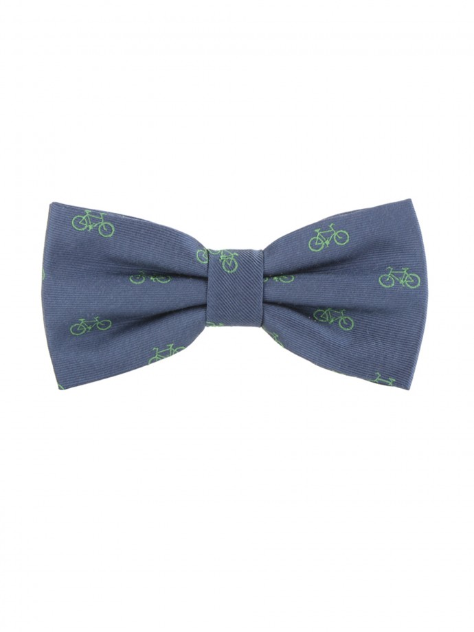 Printed bycicles bow tie