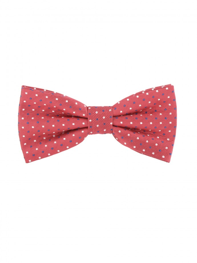 Printed spots bow tie