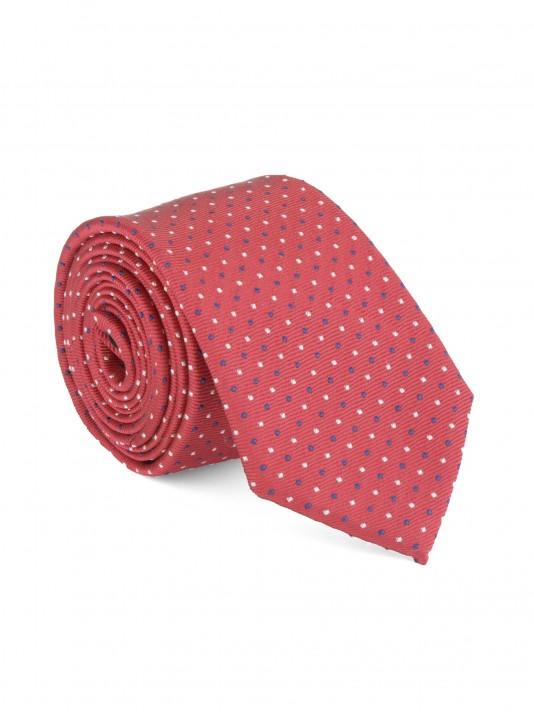 Polka print tie