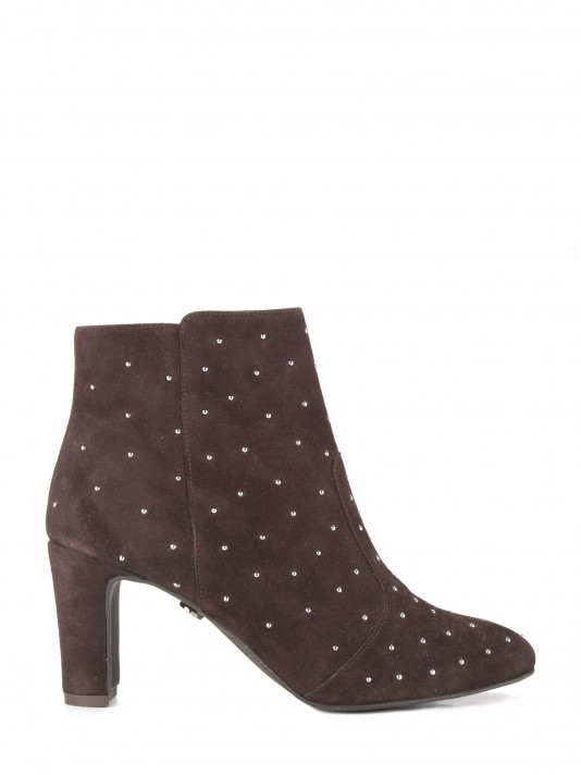 Metalic applications ankle boots