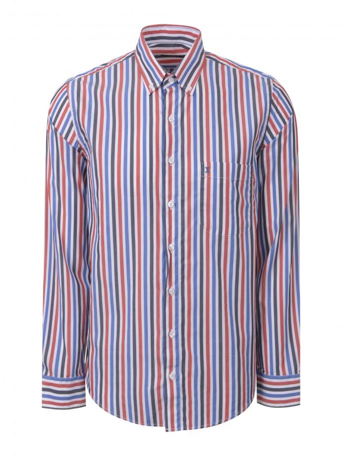Camisa regular fit con bolsillo