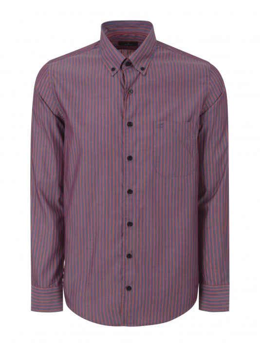 Camisa regular fit con bolsillo