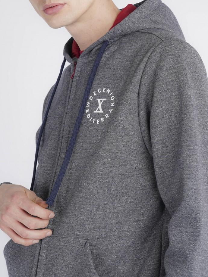 Knit loungewear jacket