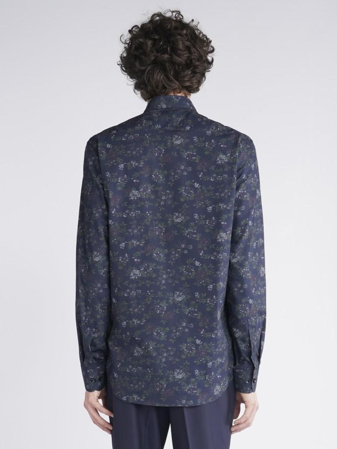 Camisa slim fit flores