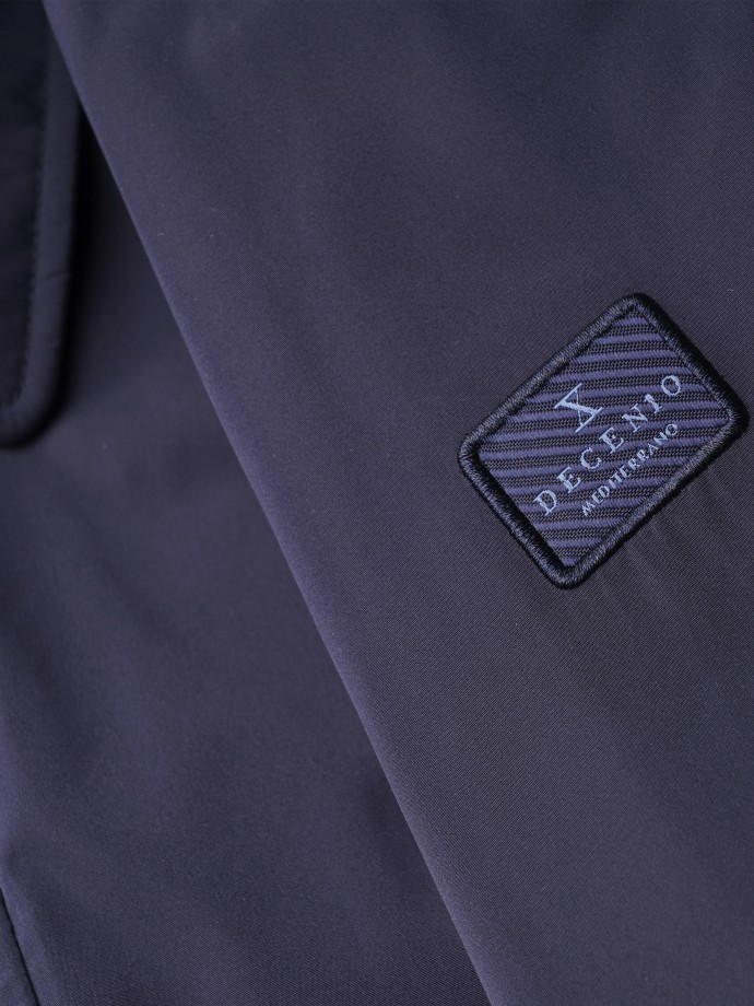 Technical fabric jacket with buttons