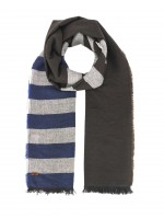 Rustic striped scarf