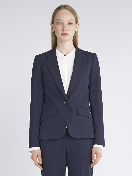 Blazer with button