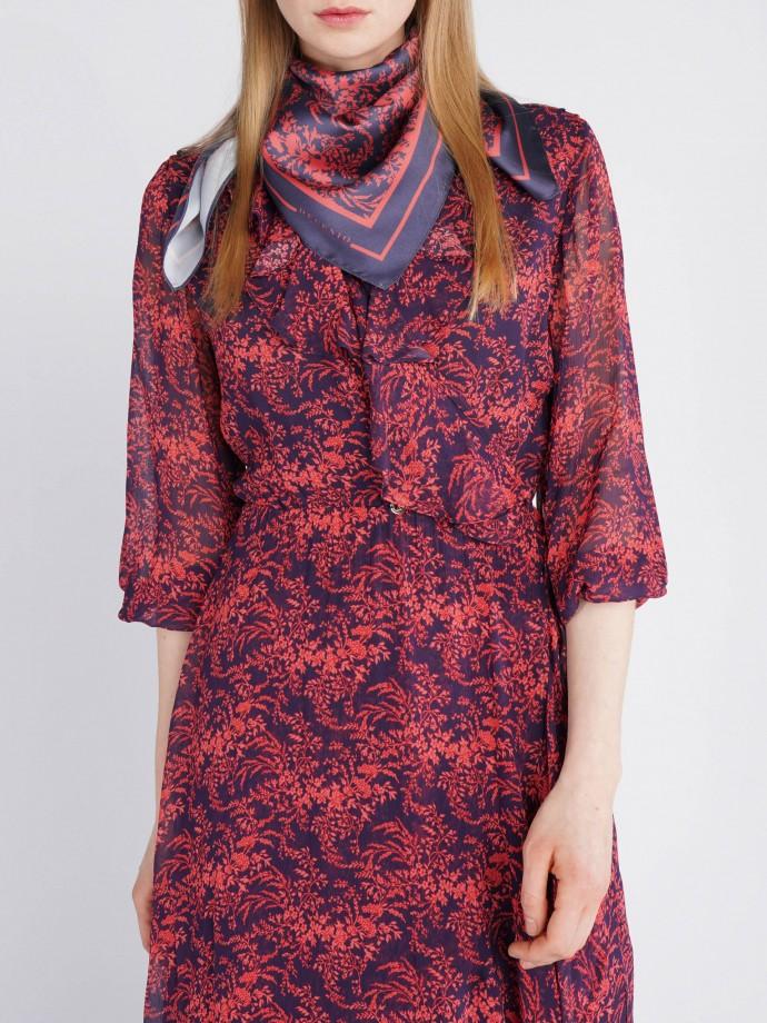 Long sleeve pierced dress