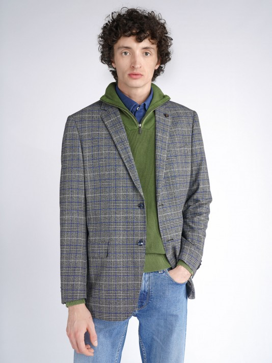 Regular fit plaid blazer
