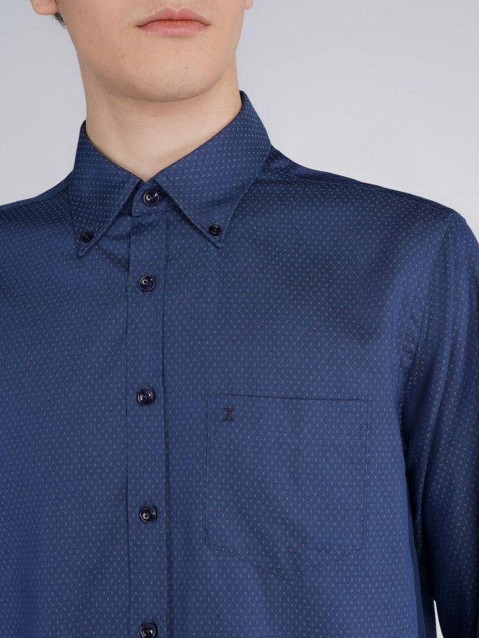 Regular fit shirt in elastane cotton