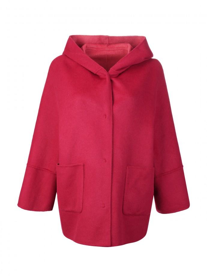 Hooded reversible jacket
