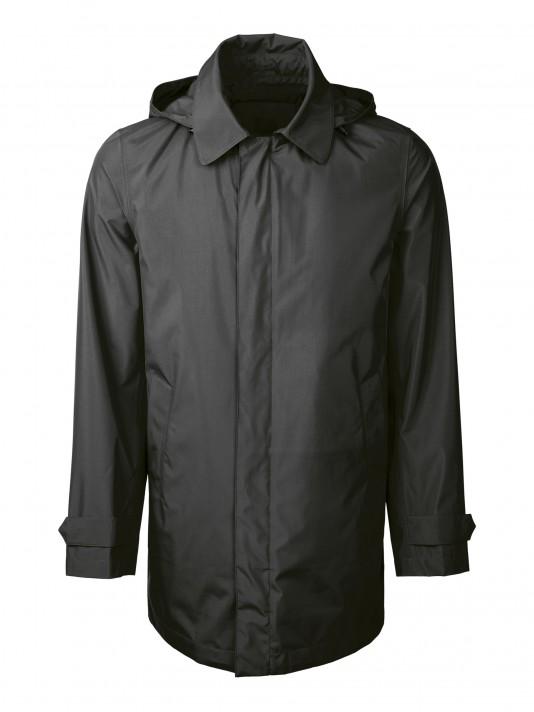 High performance technical fabric raincoat