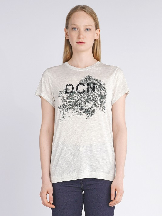 Printed t-shirt with sequins