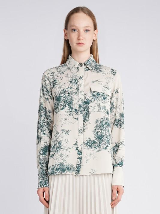 Blusa estampada pliegues