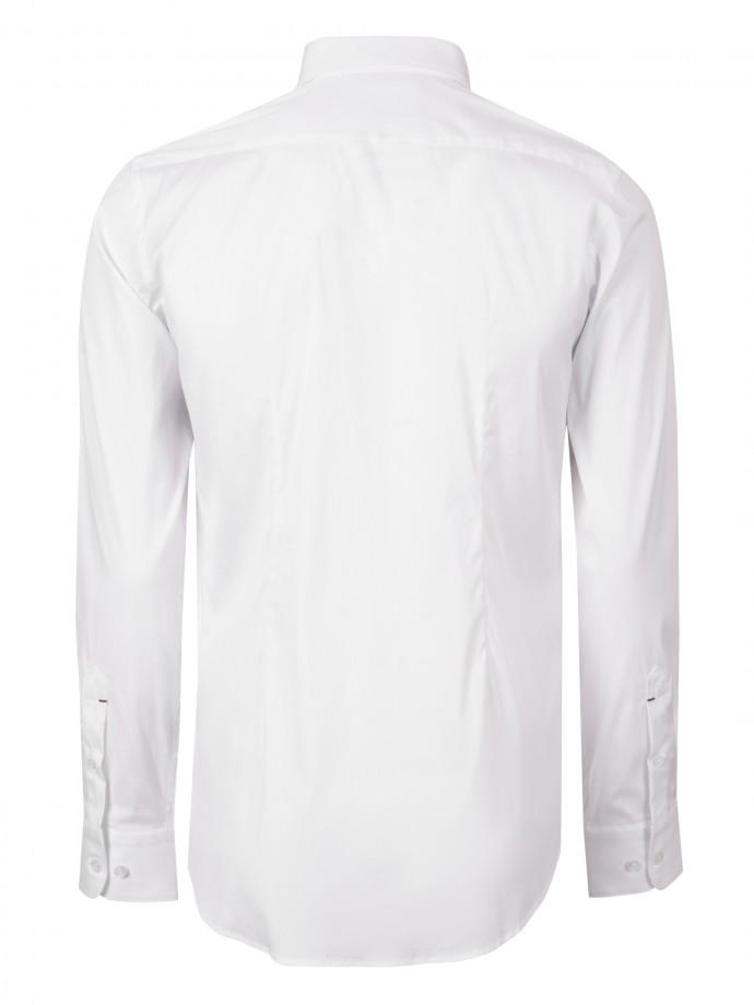 Camisa slim fit poliamida lycra