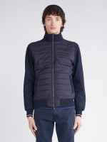 Knit and quilted jacket