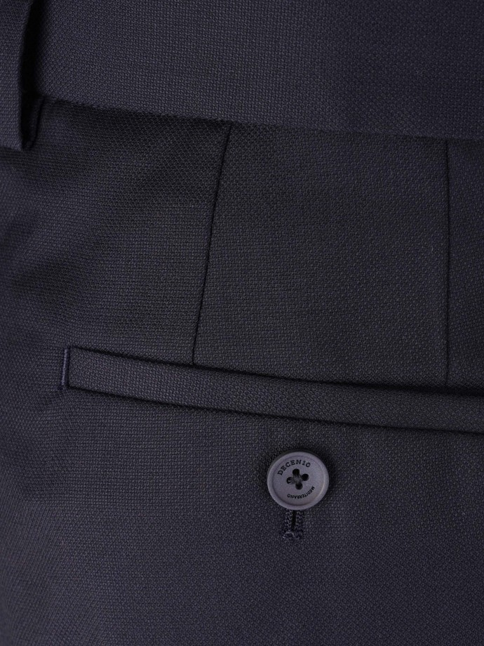 Wool chino trousers with pleat