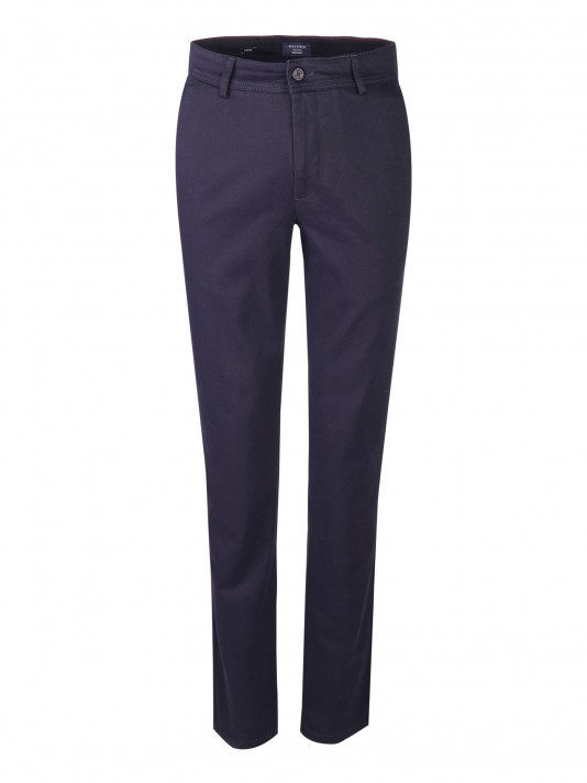 Regular fit chino trousers with pleat
