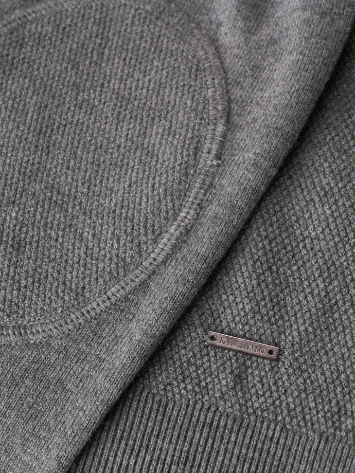 Camisola com fecho algodão e caxemira
