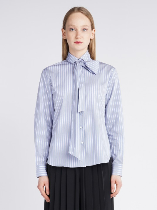 Striped and laced regular fit shirt