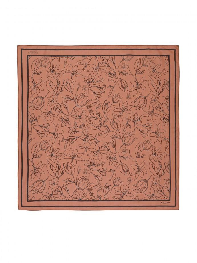 Bufanda con motivos florales