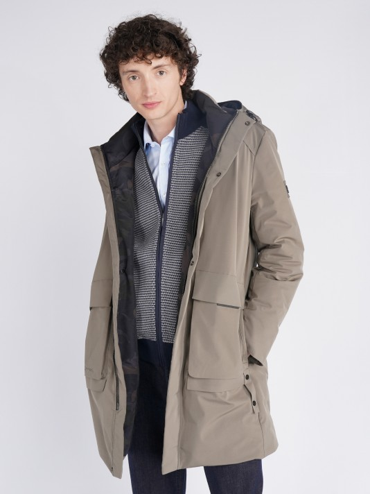 Parka high performance technical fabric