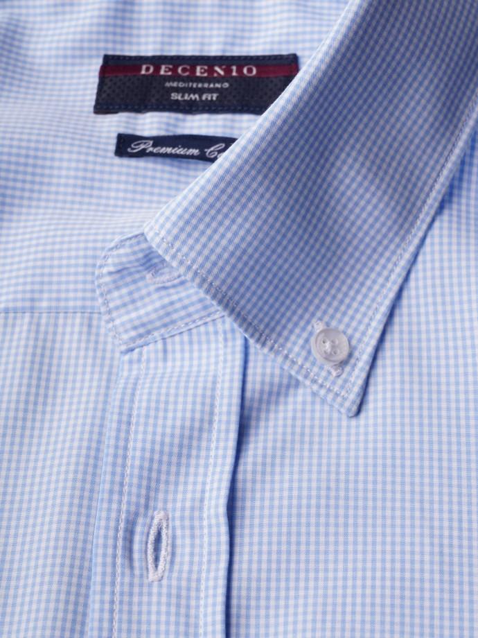 Camisa slim fit micro cuadros