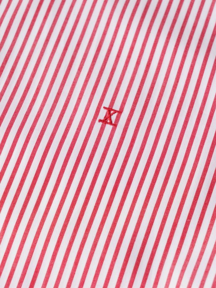 Camisa de popelina de rayas regular fit