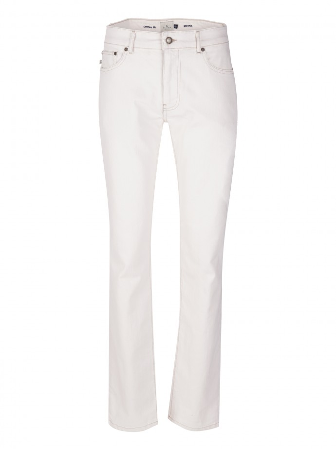 Comfort fit denim trousers