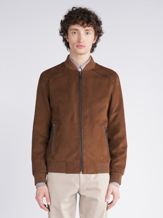 Suede look jacket