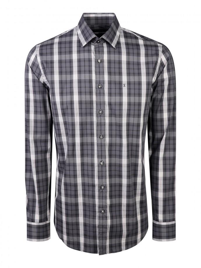 Camisa em popeline xadrez