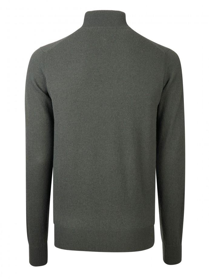 Camisola com fecho 100% lã