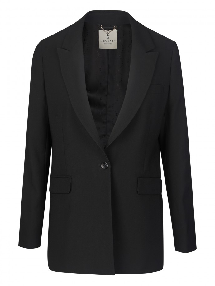 Blazer with straight cut