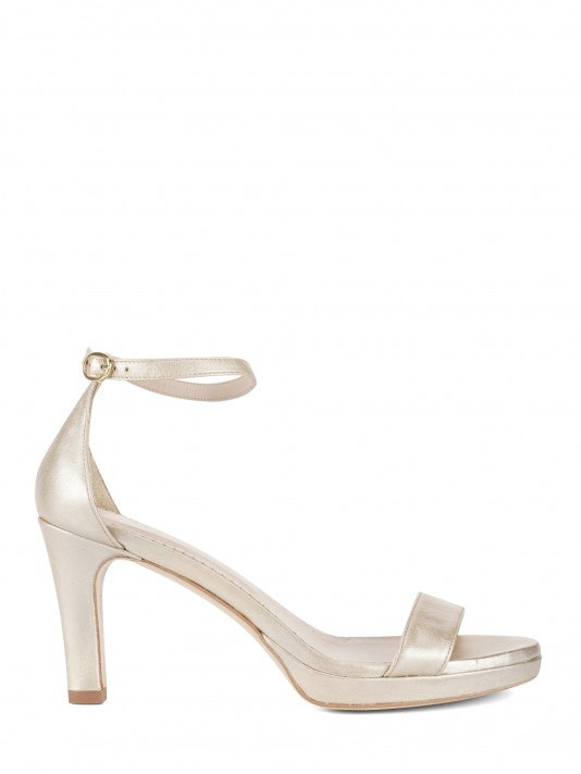 Golden leather sandals