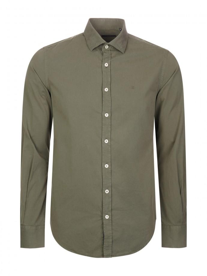 Camisa slim fit de algodón suave