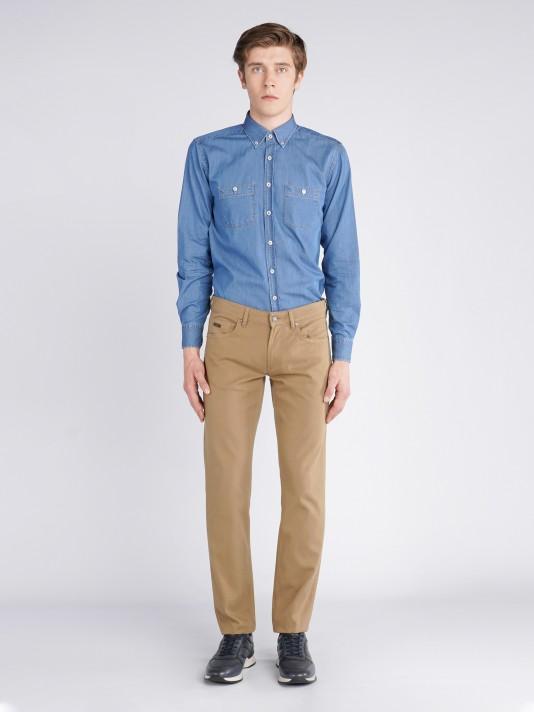Slim fit serge 5 pocket pants
