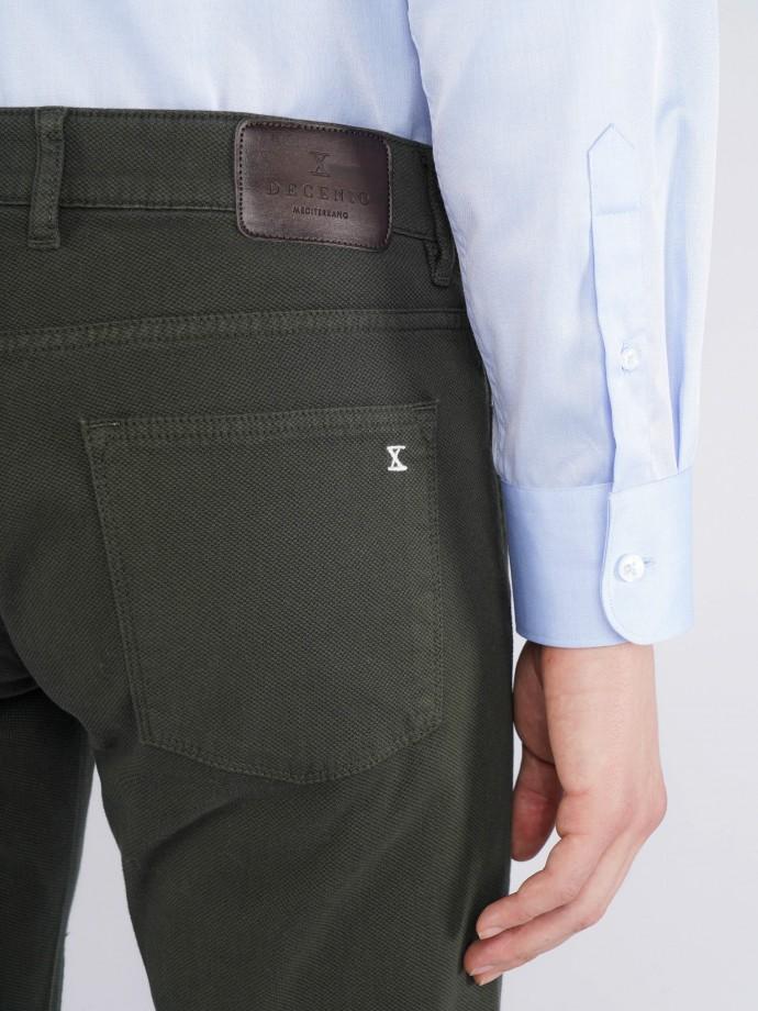 Pantalón 5 pocket slim fit en sarga