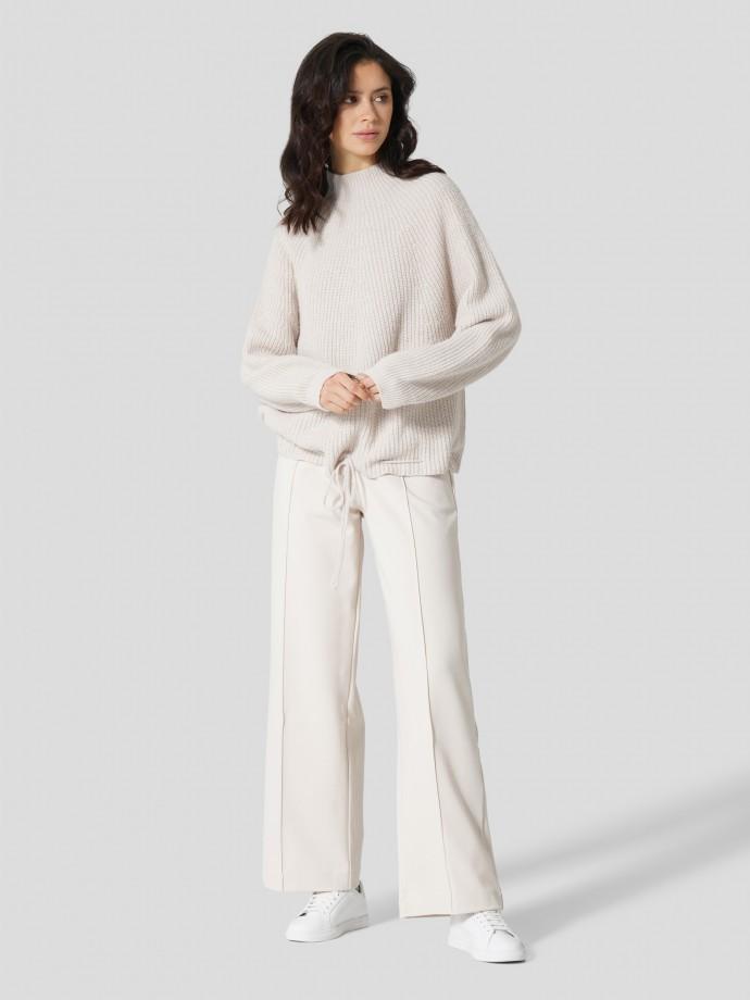 Camisola com detalhe de cordão