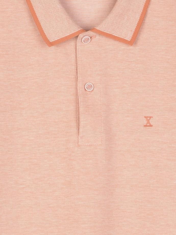 Polo de manga corta en malla de piqué bicolor