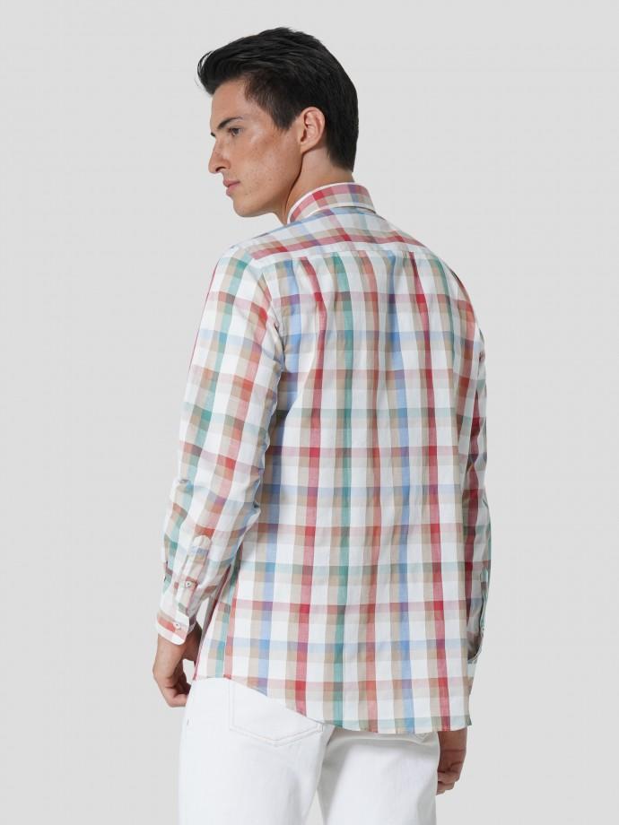 Camisa xadrez regular fit