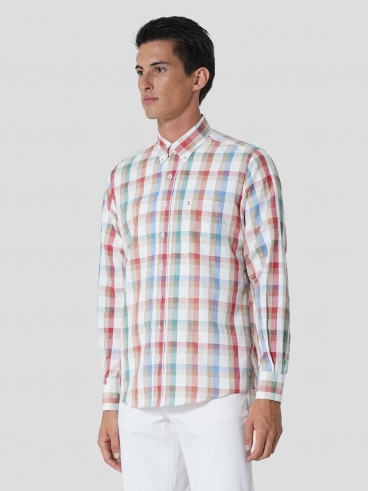 Camisa cuadros regular fit